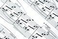 Note di musica Immagine Stock