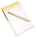 Note pad and pencil a wooden plain isolated on a white background Royalty Free Stock Image