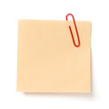 Note with a paper clip Royalty Free Stock Photo