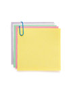Note paper and clip on white Royalty Free Stock Photo