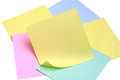 Note paper of different colors Royalty Free Stock Image