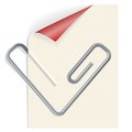 Note paper paperclip shape heart Stock Photos