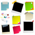 Note paper sticker photo set Stock Photos