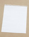 Note paper white blank on brown background Stock Photo