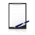 Note and Pen Royalty Free Stock Images