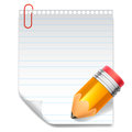 Note and pencil blank paper Royalty Free Stock Image