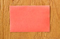 Note on ply wood background Royalty Free Stock Photography