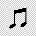Note vector icon. Music icon symbol Royalty Free Stock Photo
