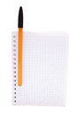 Notebook with ballpoint pen isolated Royalty Free Stock Photo