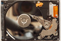 Notebook hard drives on the background Royalty Free Stock Photo