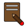 Notebook icon illustration