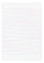 Notebook paper with colorful lines isolated on pure white background Royalty Free Stock Photo