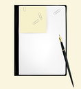 Notebook paper vector eps Royalty Free Stock Photography