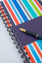 Notebook and pen. Royalty Free Stock Images