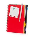 Notebook and pen  on white Royalty Free Stock Image