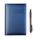 Notebook with pen on a white background Royalty Free Stock Image