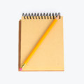 Notebook with pencil Royalty Free Stock Photos