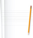 Notebook and pencil Royalty Free Stock Photo