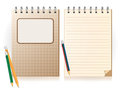 Notebook and pencil vector illustration Royalty Free Stock Image