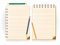 Notebook and pencil vector illustration Stock Photo