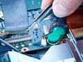 Notebook repair ribbon cable Stock Image