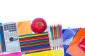 Notebook with school supplies Royalty Free Stock Photo