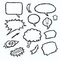 Notebook speech bubbles and arrows hand drawn Royalty Free Stock Photo