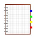 Notebook weekly background for a design ial illustration Royalty Free Stock Image
