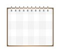 Notebook weekly background for a design ial illustration Stock Image