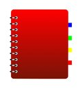 Notebook weekly background for a design ial illustration Stock Images