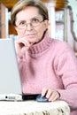 Notebook woman working Στοκ Εικόνες