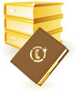 Notebook and yellow pages books concept
