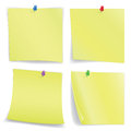 Notebooks leaves with pins on a white background image contains gradient mesh Stock Photos