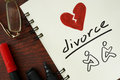 Notepad with divorce. Royalty Free Stock Photo