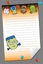 Notepad - Halloween Royalty Free Stock Photo