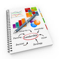 Notepad leadership concept illustration design over a notebook Stock Photography