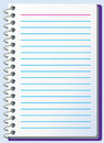 Notepad with lines Stock Image