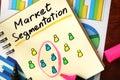 Notepad with market segmentation. Royalty Free Stock Photo