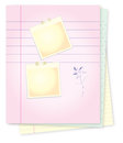 Notepad with for message writting colored line postit Stock Photography