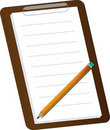 Notepad and pencil Royalty Free Stock Image
