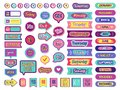 Notepad stickers. To do sticky for planner agenda status check list trendy lettering for organizer vector Royalty Free Stock Photo