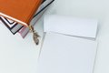 Notepad on the table Royalty Free Stock Photo