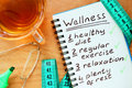 Notepad with Wellness concept