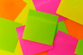 Notepaper postit a lot of square colored adhesive message Royalty Free Stock Photos