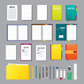 Notes Flat Design Elements Royalty Free Stock Photo