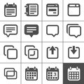 Notes, memos and plans icons Royalty Free Stock Images