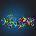 Notes music background Royalty Free Stock Photography