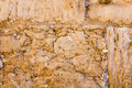 The notes in the Wailing Wall. Jerusalem, Israel Royalty Free Stock Photo