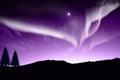 Nothern lights aurora boraaiis over mountains Royalty Free Stock Photography