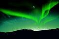 Nothern lights aurora boraaiis over mountains Stock Image